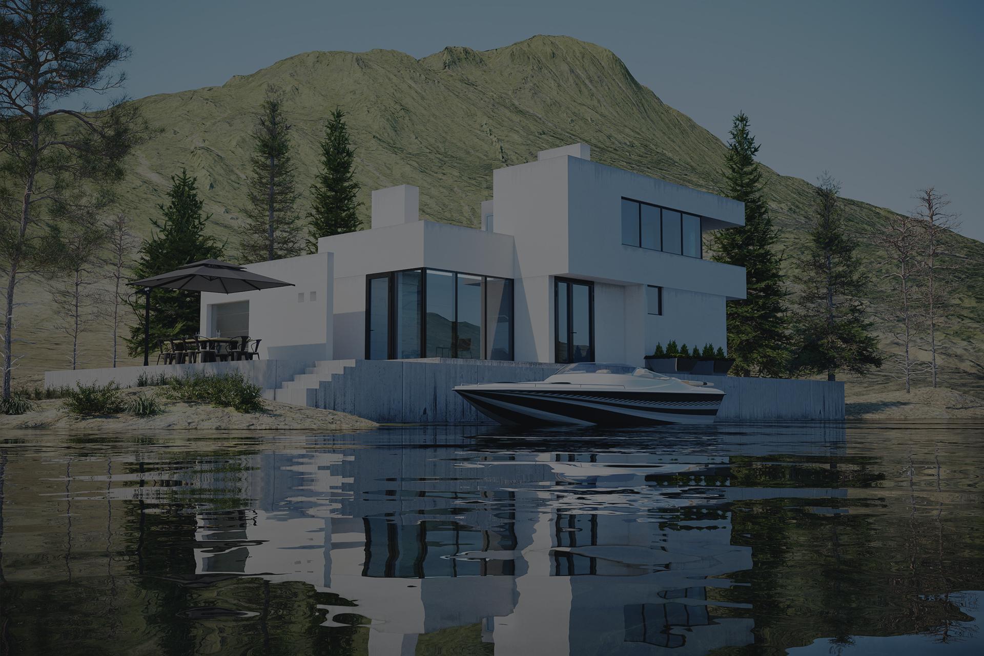 Дома у озера в Карелии