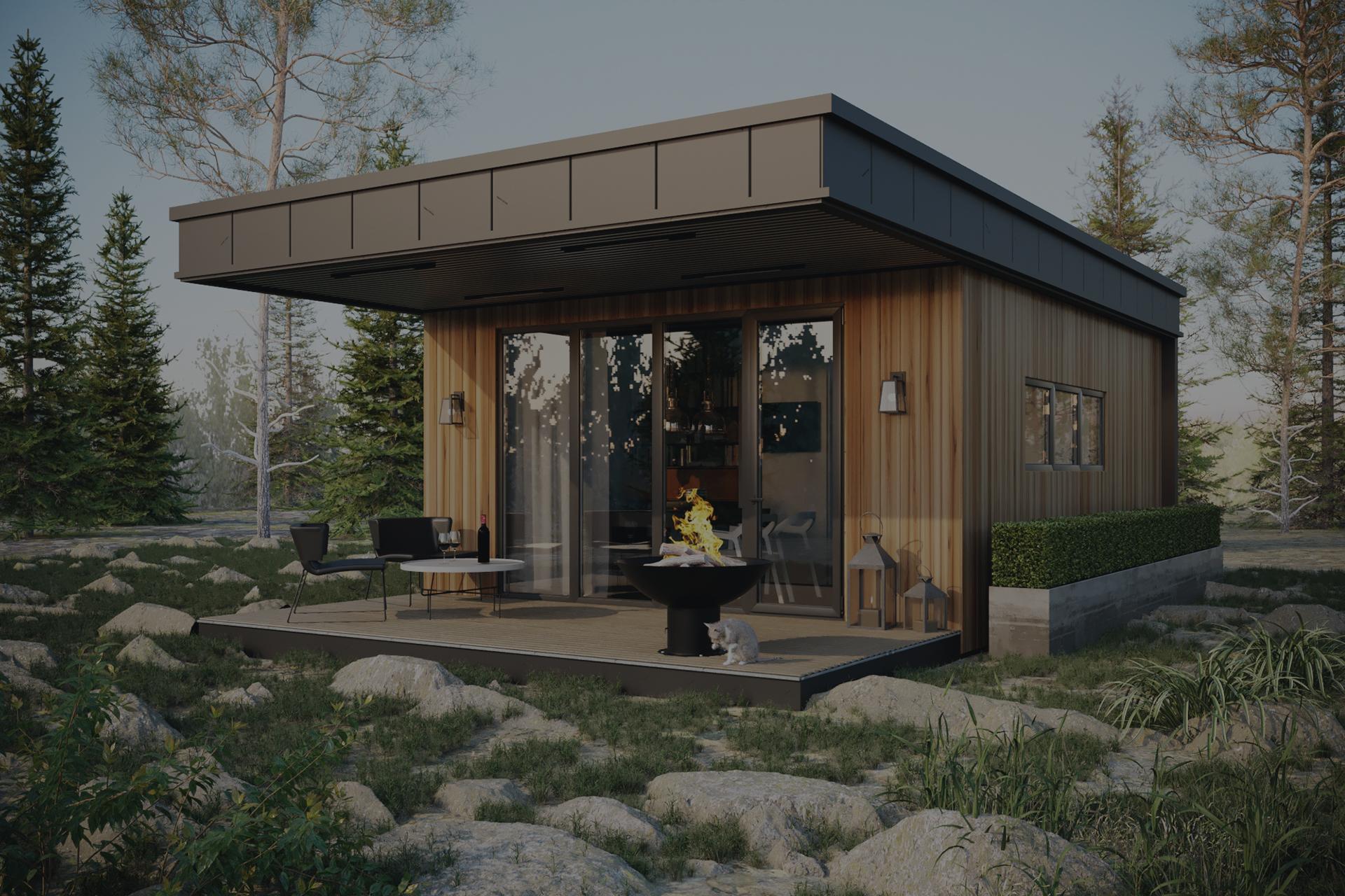 Модульный дом c террасой