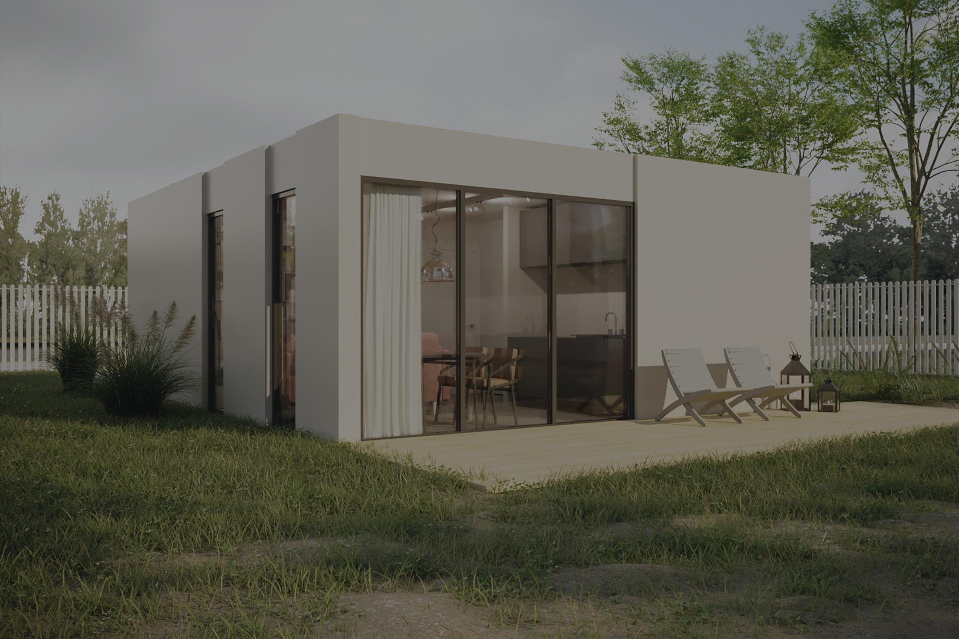 Модульный загородный дом